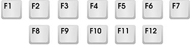 Функциональные клавиши (F1-F12)